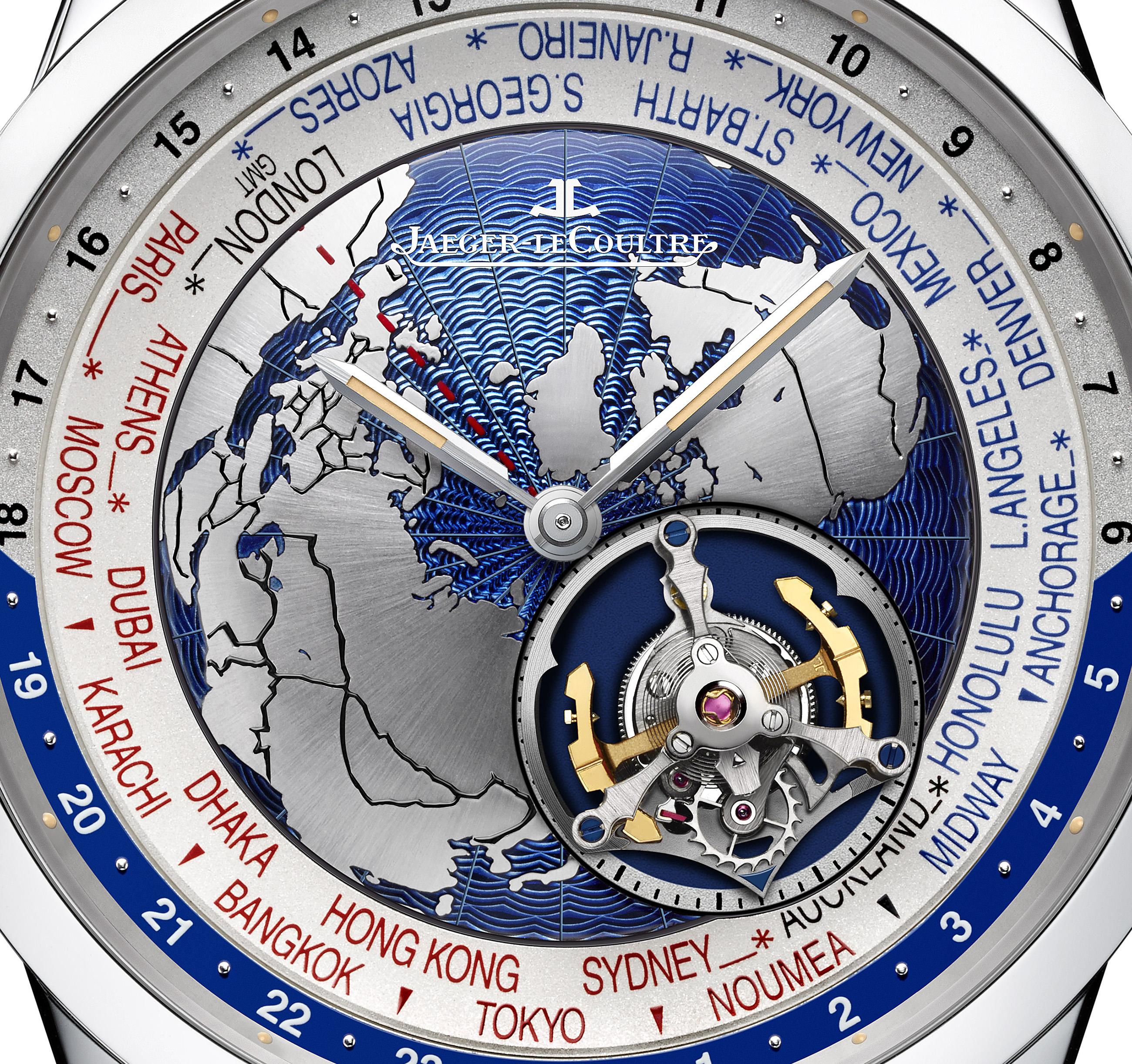 Jaeger-LeCoultre Geophysic Tourbillon Universal Time_close-up dial copy