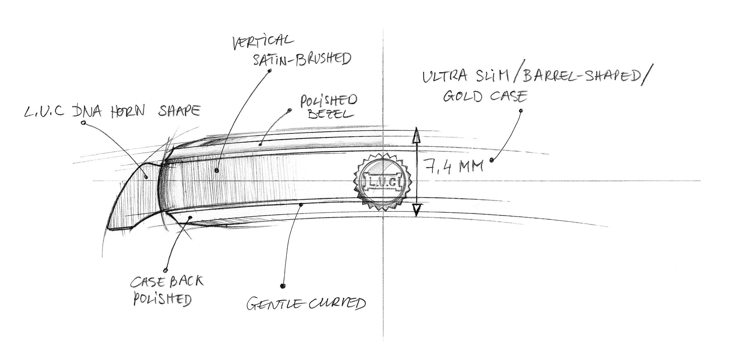 L.U.C Tonneau Heritage - Sketch 1 - Ultra slim case copy